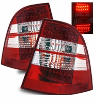 98-05 Mercedes Benz W163 ML320 350 430 Performance LED Tail Lights - Red / Clear