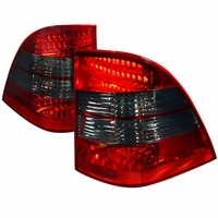 98-05 Mercedes Benz W163 ML350|ML500|ML320|ML430|ML55 AMG  Performance LED Tail Lights - Red / Smoked