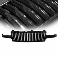 99-02 Chevy Silverado / 00-05 Chevy Tahoe / Suburban Vertical VIP Badge-less Front Grill - Black