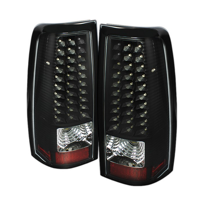 99 02 Chevy Silverado 99 03 Gmc Sierra Led Black Tail Lights