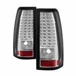 99-02 Chevy Silverado 99-03 GMC Sierra LED Chrome Tail Lights ALT-ON-CS99-LED-C By Spyder