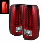 99-02 Chevy Silverado 99-03 GMC Sierra LED Red / Clear Tail Lights ALT-ON-CS99-LED-RC By Spyder
