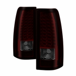99-02 Chevy Silverado 99-03 GMC Sierra LED Red / Smoked Tail Lights ALT-ON-CS99-LED-RS By Spyder