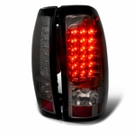 1999-2002 Chevy Silverad / GMC Sierra Performance LED Tail Lights - Smoked