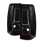 99-02 Chevy Silverado / GMC Sierra C-Style LED Tail Lights - Black