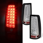 99-02 Chevy Silverado / GMC Sierra C-Style LED Tail Lights - Chrome