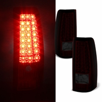 99-02 Chevy Silverado / GMC Sierra C-Style LED Tail Lights - Red Smoked