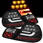 2000-2003 BMW E46 3-Series 2-Door Performance LED Tail Lights - Black