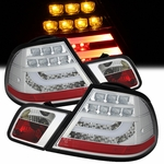 2000-2003 BMW E46 3-Series 2-Door Performance LED Tail Lights - Chrome