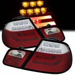 2000-2003 BMW E46 3-Series 2-Door Performance LED Tail Lights - Red Clear