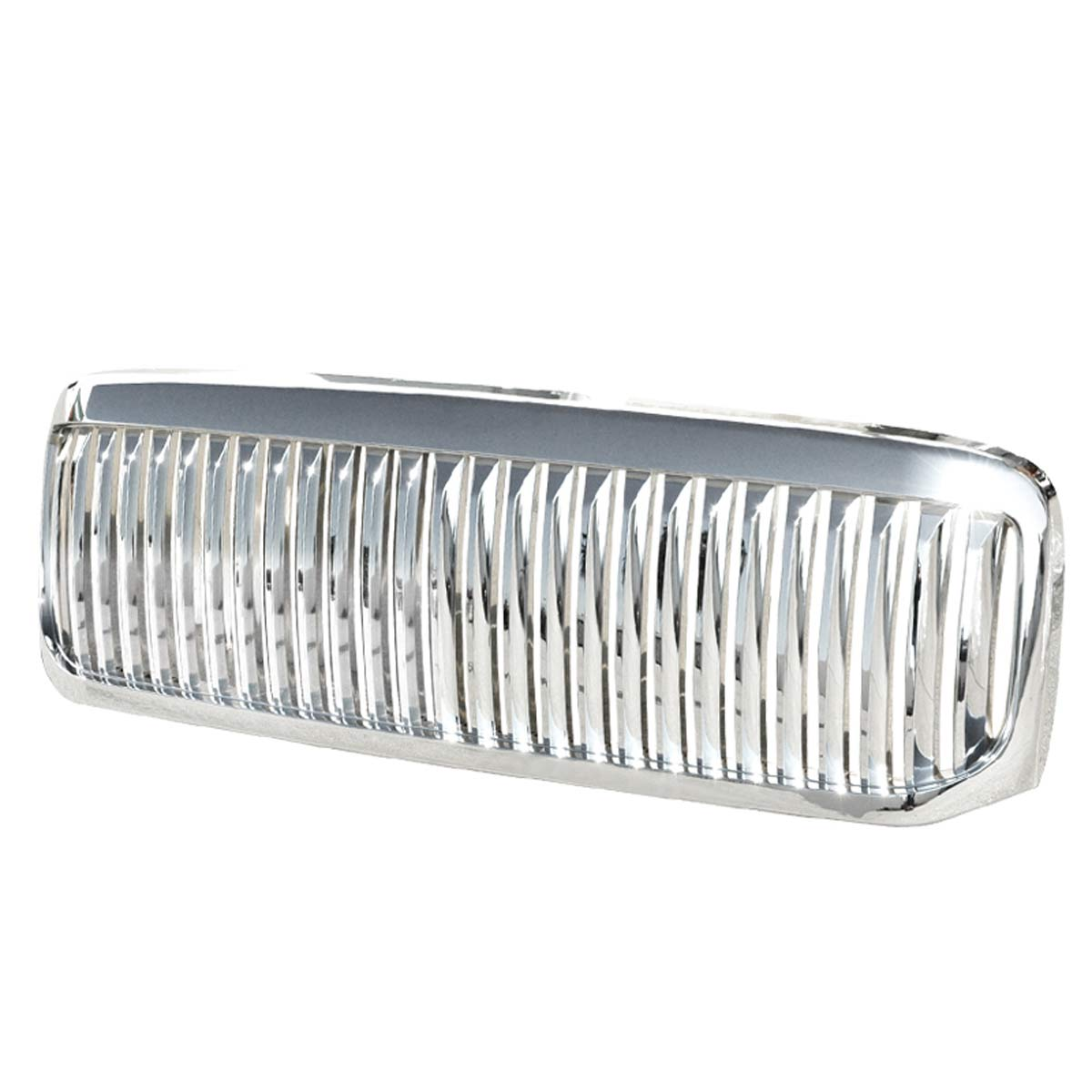 99 04 Ford F250 F350 Superduty Excursion Vip Style Vertical 2004 F 250 Super Duty Light Bulbs Front Grill Grille Chrome
