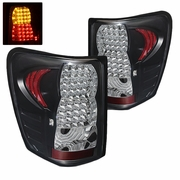 99-04 Jeep Grand Cherokee Euro Style Bright LED Tail Lights - Black By Spyder