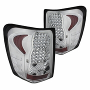 99-04 Jeep Grand Cherokee Euro Style Bright LED Tail Lights - Chrome By Spyder