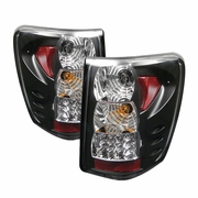 99-04 Jeep Grand Cherokee G2 Euro Style LED Tail Lights - Black ALT-YD-JGC99-LED-BK-G2 By Spyder