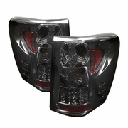 99-04 Jeep Grand Cherokee G2 Euro Style LED Tail Lights - Smoked ALT-YD-JGC99-LED-SM-G2 By Spyder