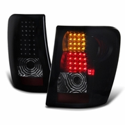 99-04 Jeep Grand Cherokee LED Tail Lights - Black Smoked