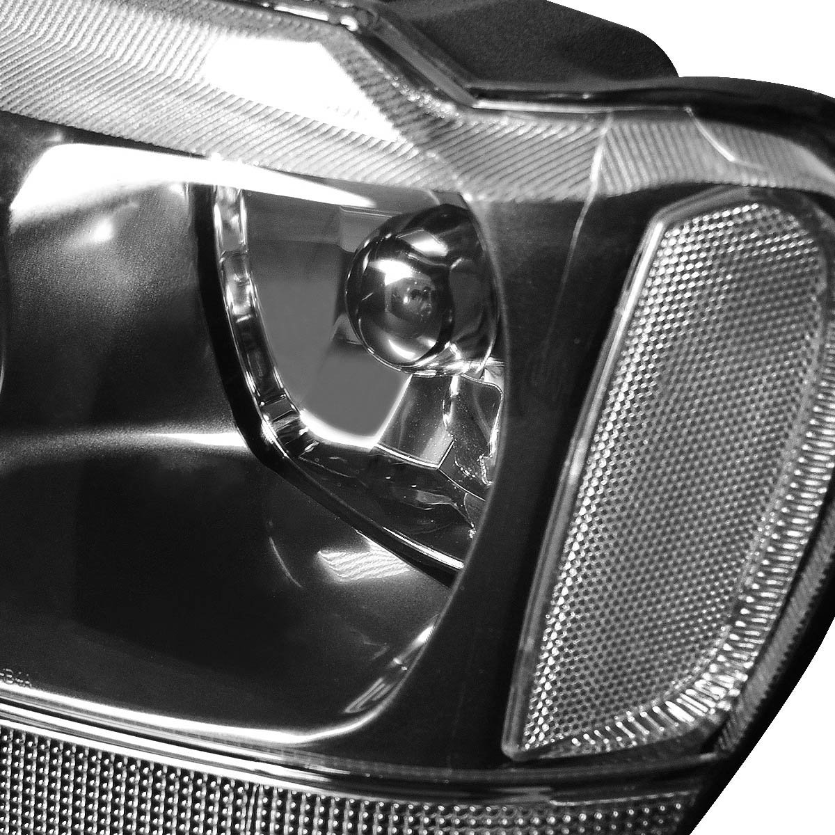 99 04 jeep grand cherokee replacement crystal headlights black clear