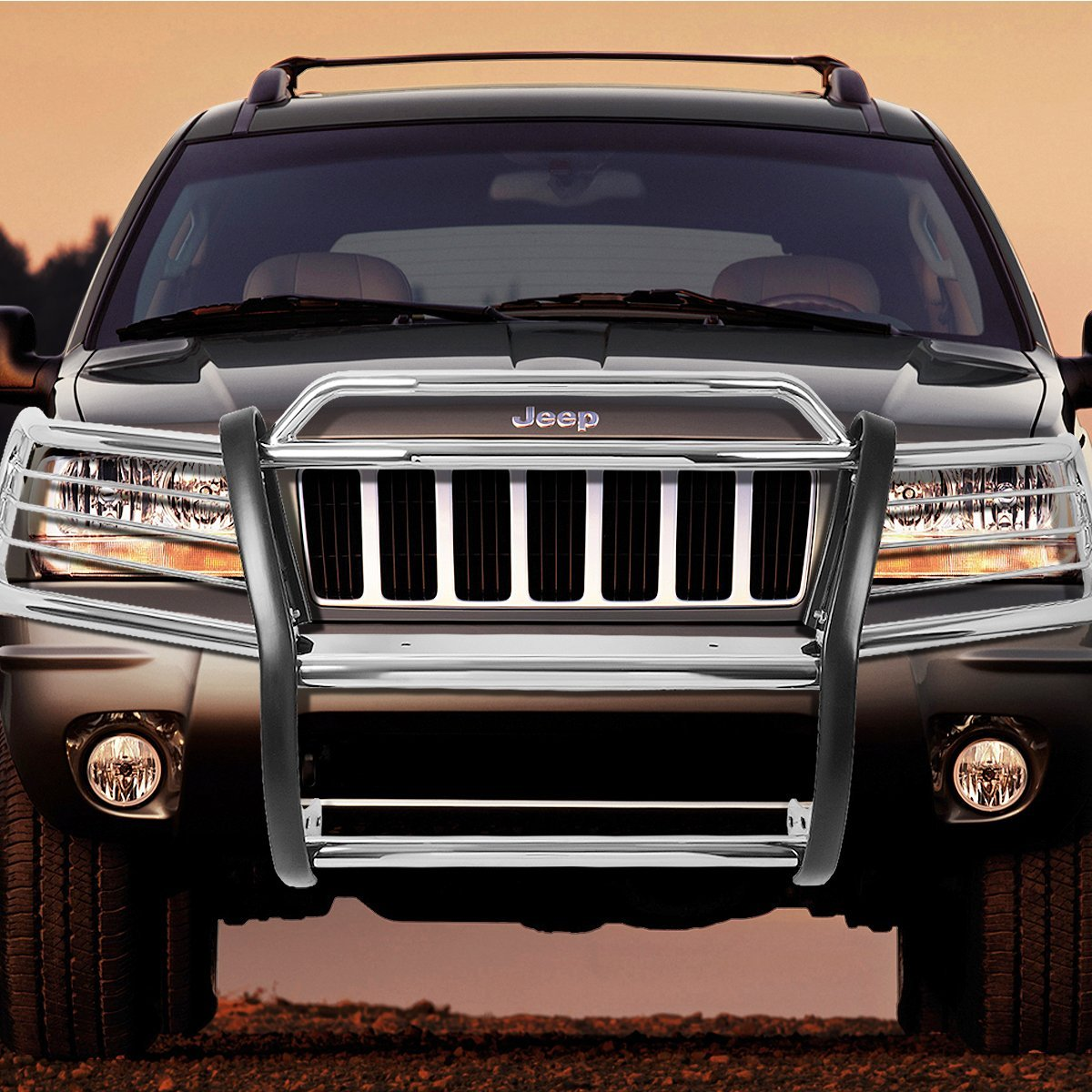 99 04 jeep grand cherokee wj front bumper protector brush. Black Bedroom Furniture Sets. Home Design Ideas