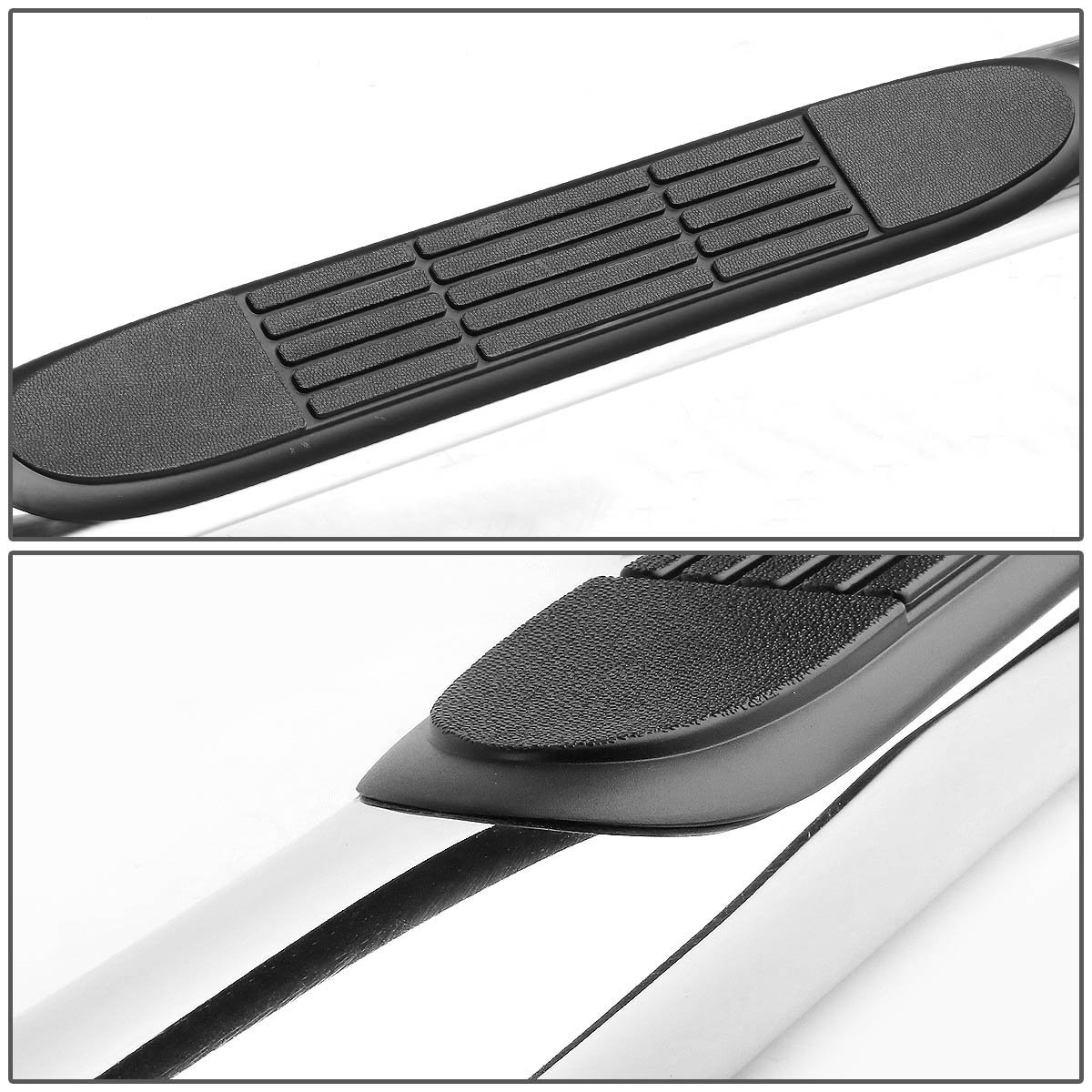 99 16 chevy silverado gmc sierra extended double cab 3 side step nerf bar polished