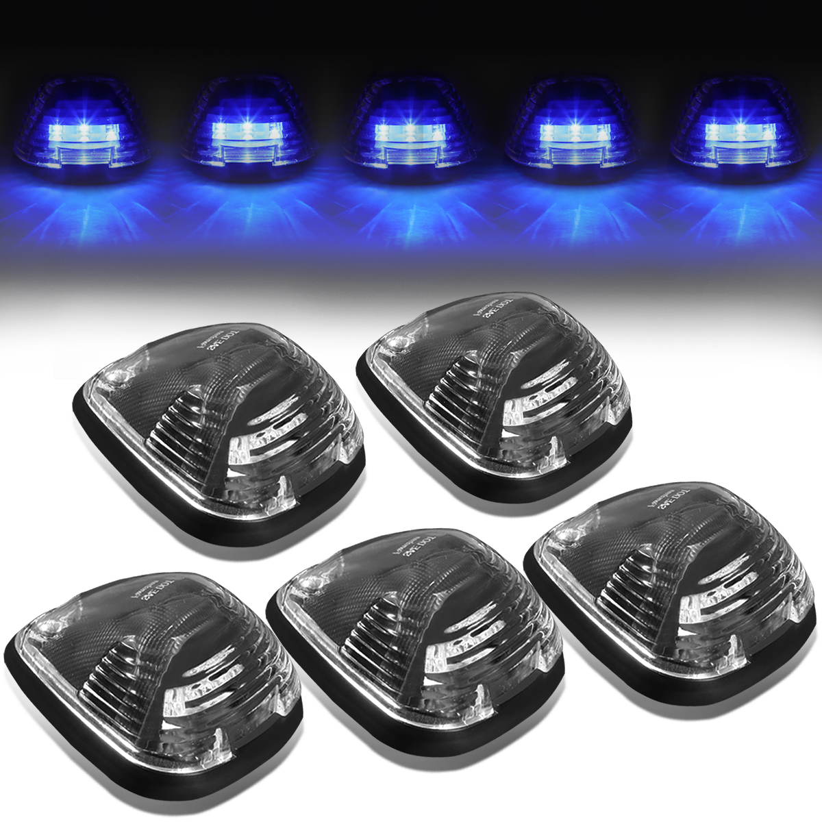 99 16 Ford Superduty 5 X Led Cab Roof Top Lights Wiring Harness Fog Light Black Housing