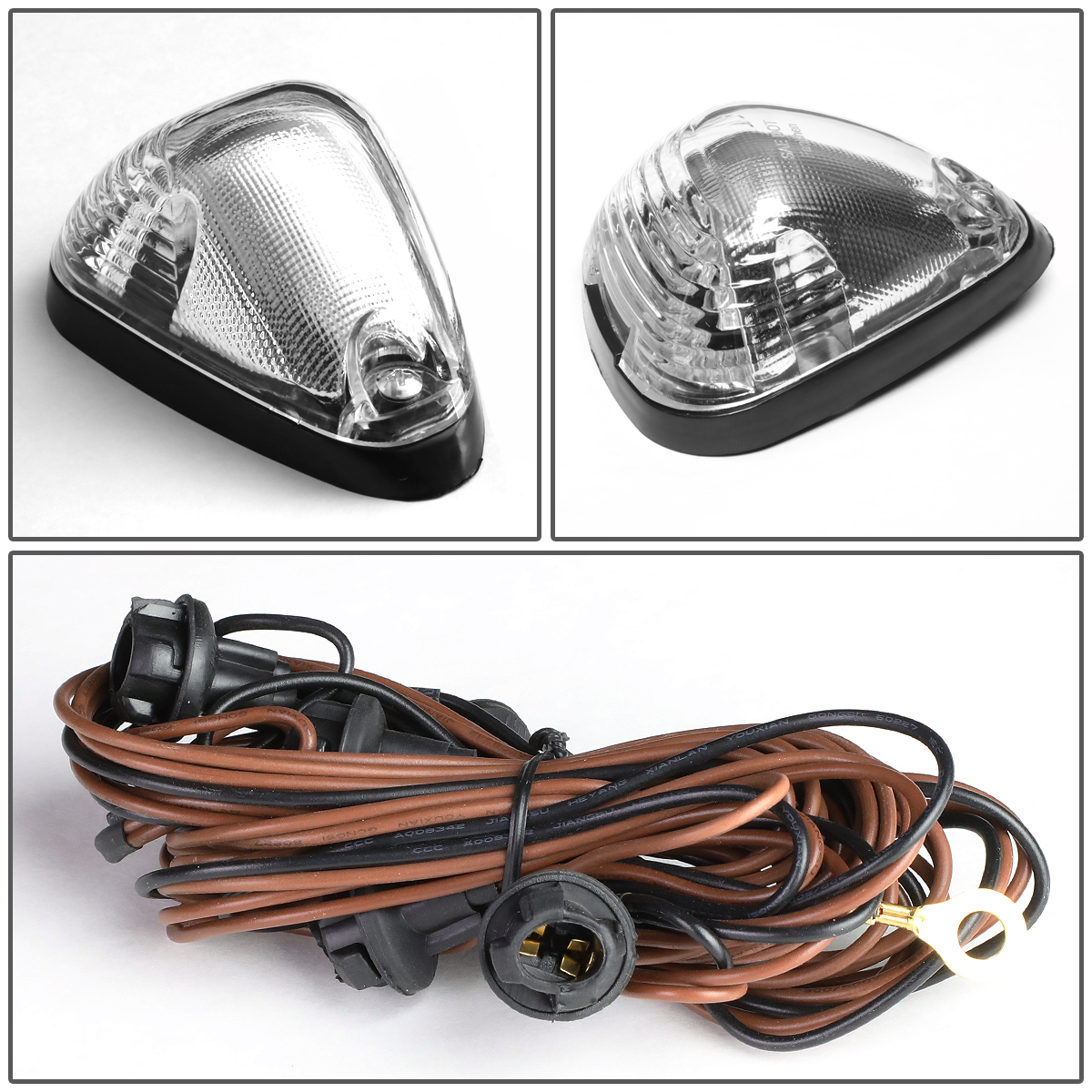 99 16 Ford Superduty 5 X Led Cab Roof Top Lights Wiring Harness Car Light Chrome Housing