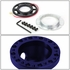 Aluminum Steering Wheel 6-Hole Hub Adaptor Kit Blue - Honda Accord / Prelude