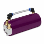 BILLET ALUMINUM RACING ENGINE OIL CATCH RESERVOIR TANK/CAN+HOSE INDICATOR PURPLE