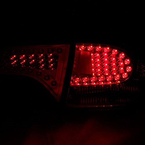 06 08 honda civic 4dr sedan ex lx si led tail lights black. Black Bedroom Furniture Sets. Home Design Ideas
