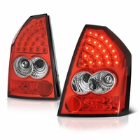 2005-2007 Chrysler 300 Performance LED Tail Lights - Red Clear By Spyder