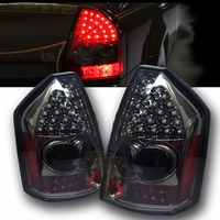2005-2007 Chrysler 300 Performance LED Tail Lights - Smoked By Spyder