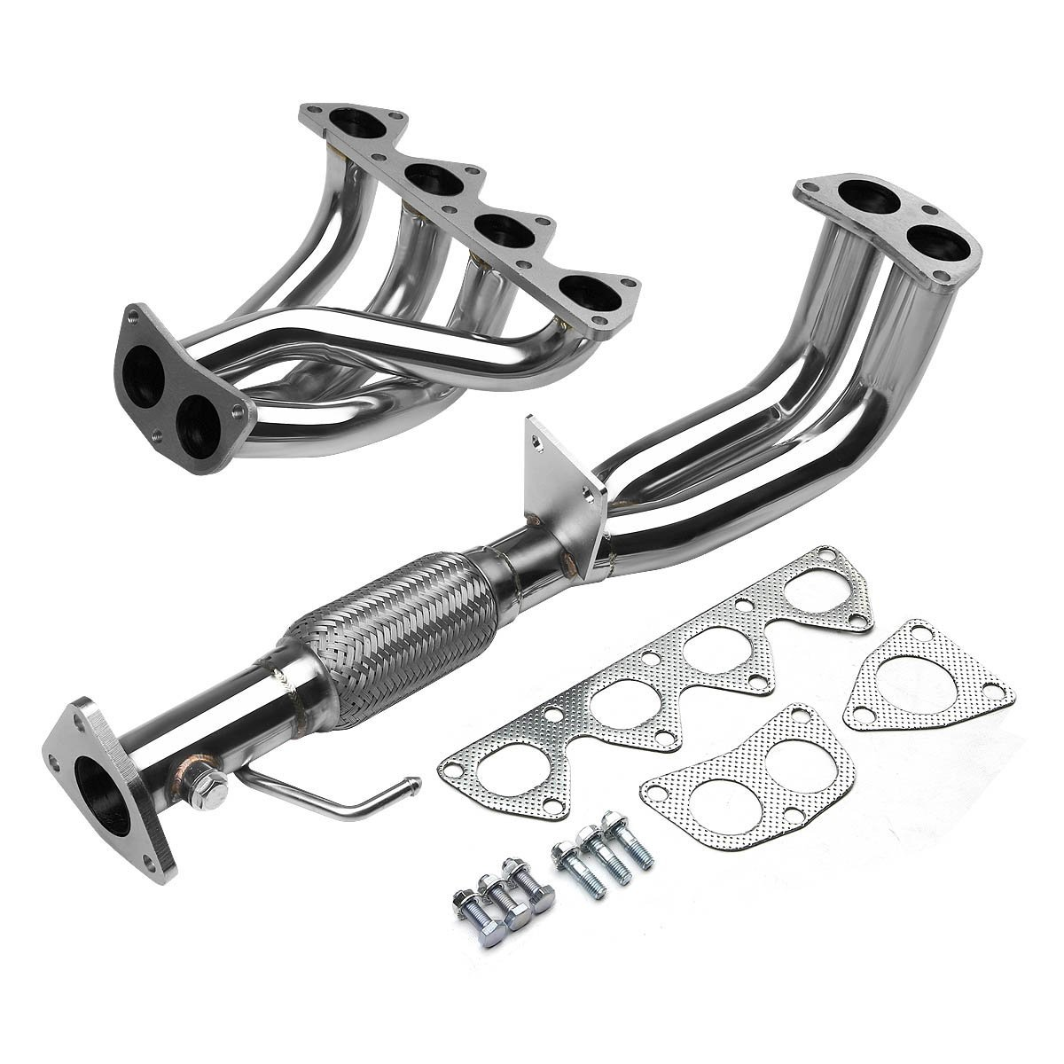 97 01 honda prelude non sh h22a44 2 1 stainless racing manifold header exhaust high flow test pipe. Black Bedroom Furniture Sets. Home Design Ideas