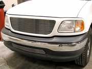 Grillcraft BG Series For-1304-Bac 2004 Ford F-150 Heritage Bumper Billet Grille (Old Body Style) No-Cutting