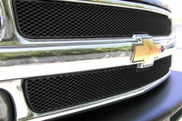 Grillcraft Mx-Series Che-1500-B 99-02 Chevy Silverado Grille Upper 2Pc 1500,2500,3500 Black