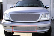 Grillcraft Mx-Series For-1304-S 99-03 Ford F150 Grille Bumper Insert Silver