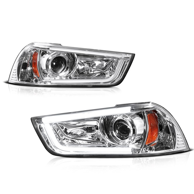 hid version 2011-2014 dodge charger led drl tube projector headlights