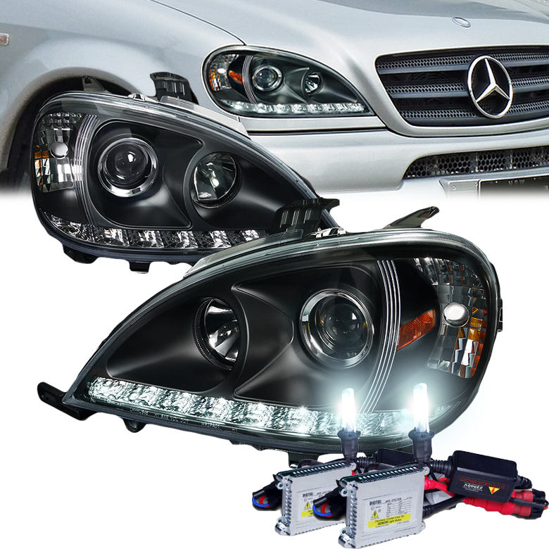 Hid xenon 02 05 mercedes benz w163 ml350 ml55 led strip for Mercedes benz projector lights