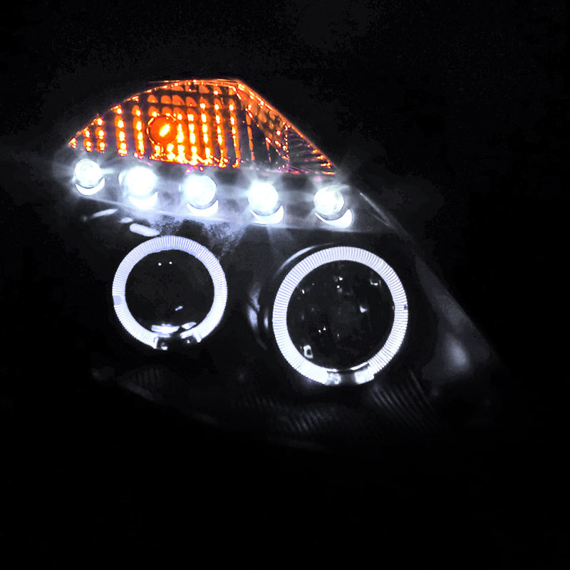 hid xenon 03 05 nissan 350z halogen model angel eye halo led drl projector headlights black 88 xenon 03 05 nissan 350z (halogen model) angel eye halo & led drl 2005 nissan 350z headlight wiring diagram at gsmportal.co