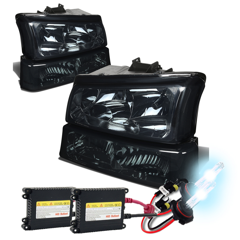 HID Xenon  0306 Chevy Silverado  Avalanche Crystal Headlights