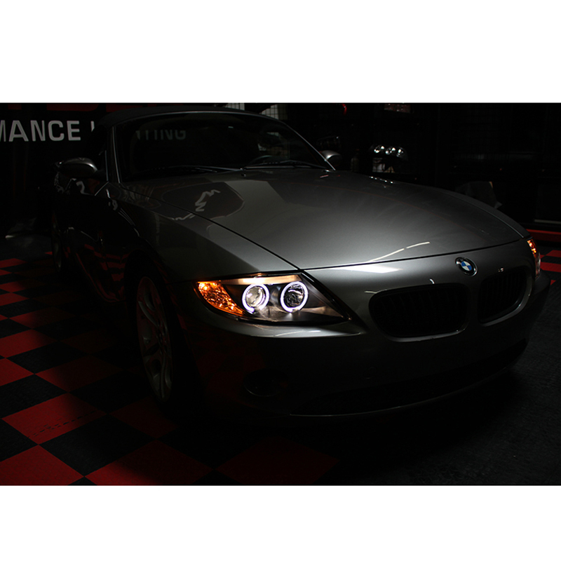 Hid Xenon 03 08 Bmw Z4 E85 Angel Eye Halo Projector