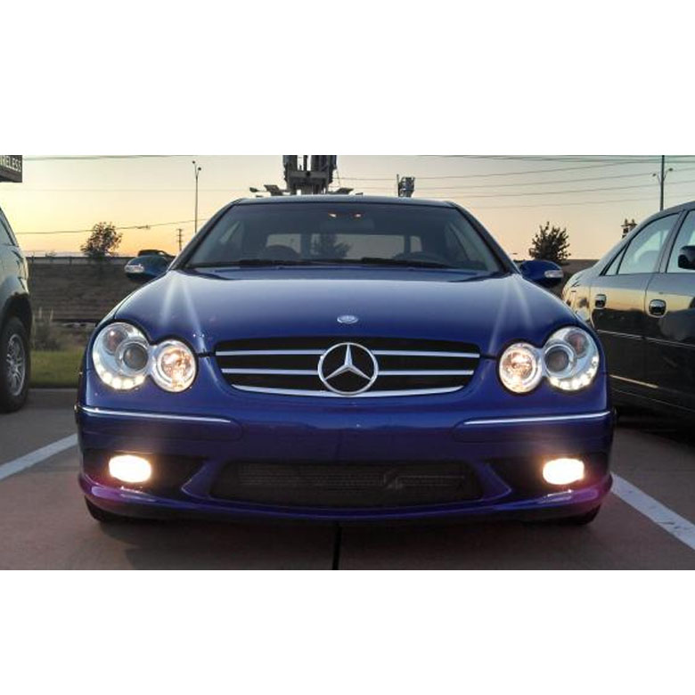 hid xenon 03 09 mercedes benz clk w209 angel eye halo. Black Bedroom Furniture Sets. Home Design Ideas