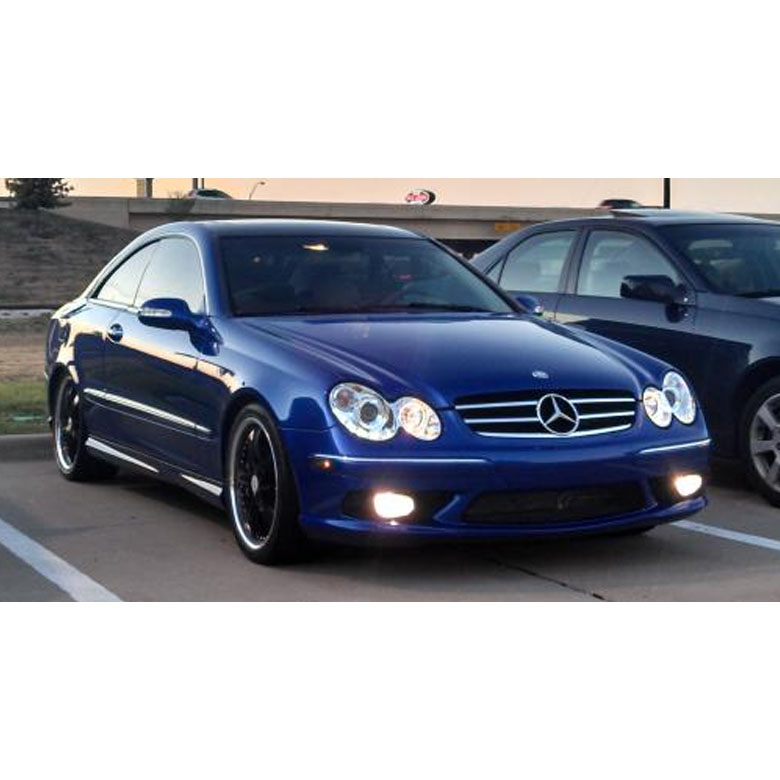 Hid xenon 03 09 mercedes benz clk w209 angel eye halo for Mercedes benz projector lights