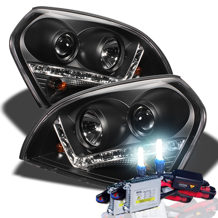 hid xenon 04 09 hyundai tucson drl led projector. Black Bedroom Furniture Sets. Home Design Ideas