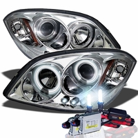 HID Xenon + 05-10 Chevy Cobalt / Pontiac G5 Angel Eye Halo Projector Headlights - Chrome