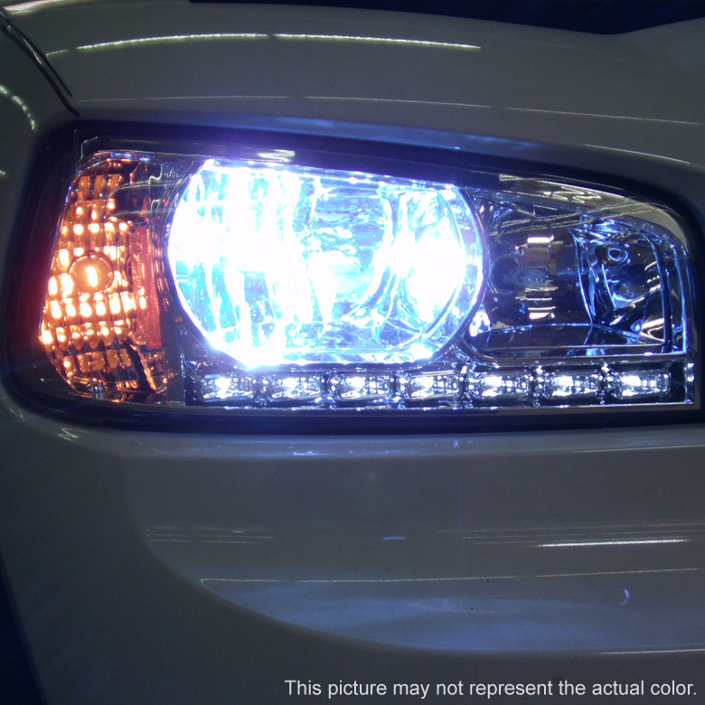 Hid Xenon 05 10 Dodge Charger 1 Piece Led Drl Crystal