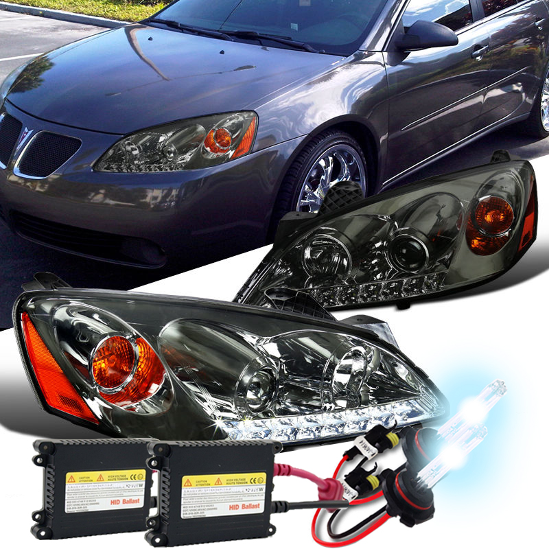 hid xenon 05 10 pontiac g6 led drl projector headlights smoked 4 pontiac g6 headlight bulb replacement headlight bulb how to replace headlight wiring harness pontiac g6 at gsmportal.co