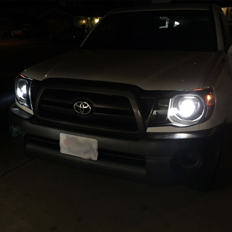Hid xenon 05 11 toyota tacoma retro style projector headlights black publicscrutiny Image collections