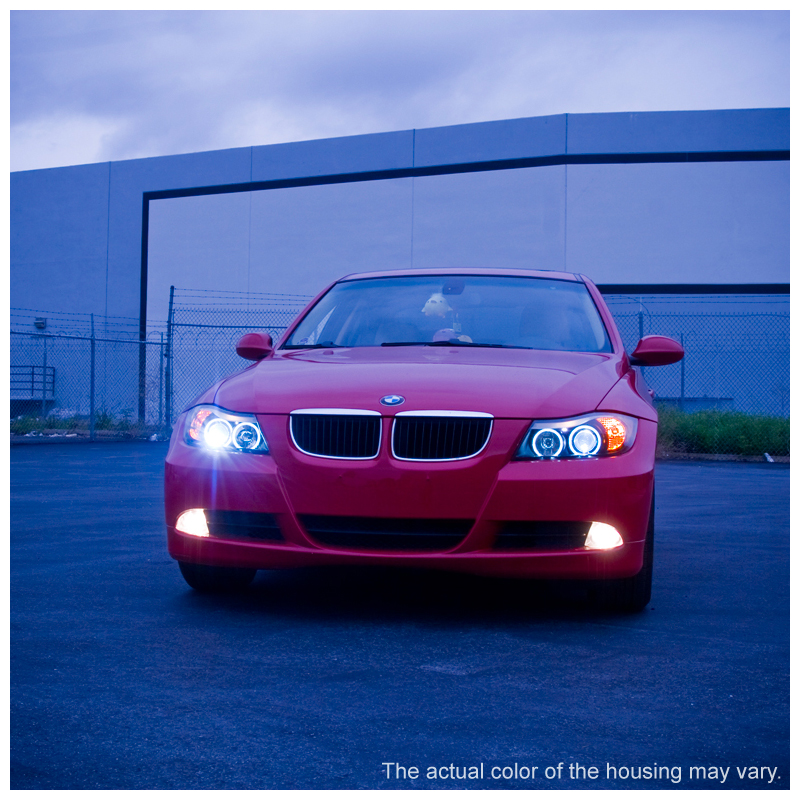 hid xenon 06 08 bmw e90 3 series sedan angel eye halo. Black Bedroom Furniture Sets. Home Design Ideas