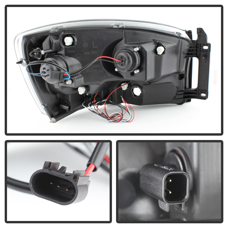 Xenon 0608 Dodge Ram Dual Angel Eye Halo LED Projector – Dodge 1500 Hid Relay Wiring