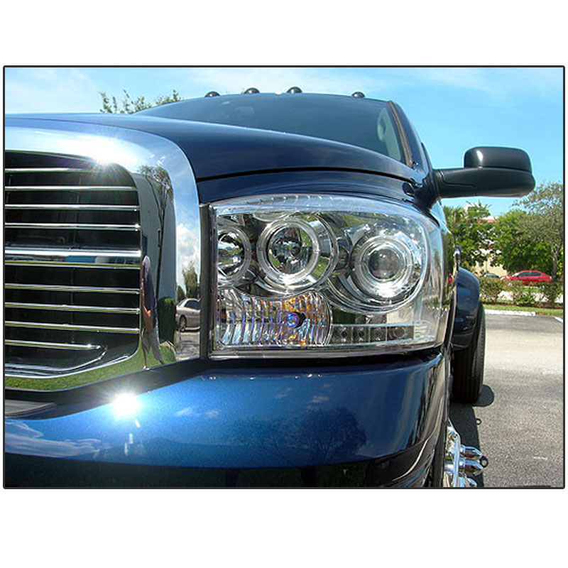 Hid Xenon 06 08 Dodge Ram Dual Angel Eye Halo Amp Led