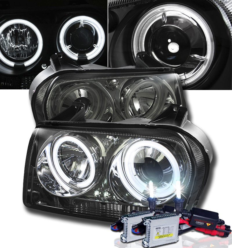 hid xenon 09 10 chrysler 300 angel eye halo led. Black Bedroom Furniture Sets. Home Design Ideas
